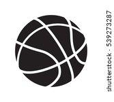 basketball icon vector... | Shutterstock .eps vector #539273287