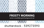 "snowflake pattern set ""frosty... | Shutterstock .eps vector #539273593"