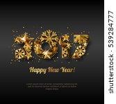 happy new year 2017 vector... | Shutterstock .eps vector #539284777