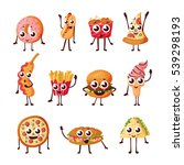 fast food cartoon characters... | Shutterstock .eps vector #539298193