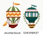 hot air flying balloons with... | Shutterstock .eps vector #539298937