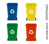 realistic set recycle bins for... | Shutterstock .eps vector #539299663