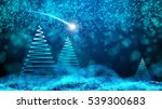 night sky with christmas tree... | Shutterstock . vector #539300683