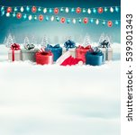 holiday christmas background... | Shutterstock . vector #539301343
