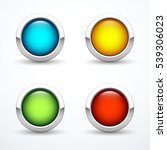 set of colored buttons | Shutterstock .eps vector #539306023
