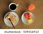set of breakfast  plate of... | Shutterstock . vector #539316913