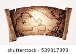 old treasure map  isolated on... | Shutterstock . vector #539317393
