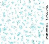 seamless winter holidays... | Shutterstock .eps vector #539328907