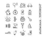 vector hand made icons set  ... | Shutterstock .eps vector #539338147