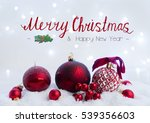 christmas scene with snow   ... | Shutterstock . vector #539356603