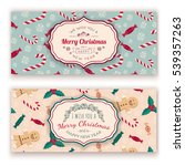 christmas candies pattern and... | Shutterstock .eps vector #539357263