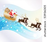 santa clause with reindeer... | Shutterstock . vector #53936305