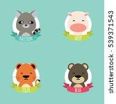 cute cartoon animals   Shutterstock .eps vector #539371543
