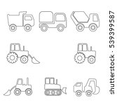 construction machinery icon set ... | Shutterstock .eps vector #539399587