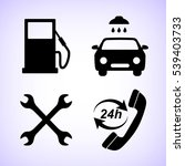 gas station  service icons set | Shutterstock .eps vector #539403733