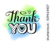 """thank you"" text on watercolor... 