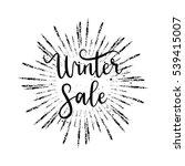 vector winter sale hand... | Shutterstock .eps vector #539415007