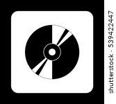 Cd Or Dvd    Black Vector Icon