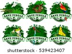save jungle emblems with... | Shutterstock .eps vector #539423407