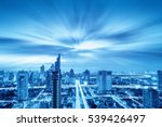 city scape and network... | Shutterstock . vector #539426497