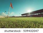 green grass in soccer stadium   ... | Shutterstock . vector #539432047