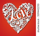 laser cut heart for paper... | Shutterstock .eps vector #539442253