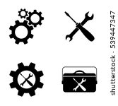 settings and repair  icons... | Shutterstock .eps vector #539447347