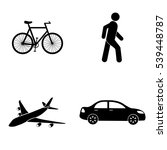 transportation icons  vector set | Shutterstock .eps vector #539448787