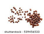roasted coffee beans pile from... | Shutterstock . vector #539456533