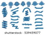 vector set with blue ribbons... | Shutterstock .eps vector #539459077
