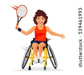disabled tennis player with a... | Shutterstock .eps vector #539461993