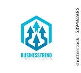 business trend   vector logo...   Shutterstock .eps vector #539462683