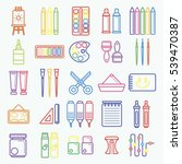 vector set of artist tools for...