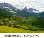 a beautiful village surrounded... | Shutterstock . vector #539474797