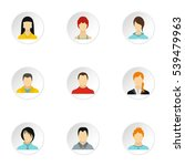 avatar of different people... | Shutterstock .eps vector #539479963
