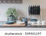 modern kitchen room with sink... | Shutterstock . vector #539501197
