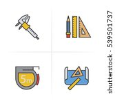 engineering color icons set.... | Shutterstock .eps vector #539501737