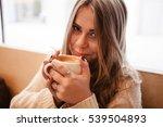 beautiful girl with long hair... | Shutterstock . vector #539504893