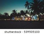 ocean drive street with... | Shutterstock . vector #539505103