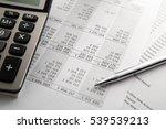 pen  calculator on the... | Shutterstock . vector #539539213