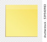 yellow sticky note isolated on... | Shutterstock .eps vector #539540983