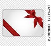 blank white gift card template...   Shutterstock .eps vector #539541067