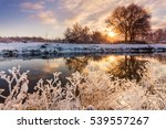 Dawn Over The River In A Frost...