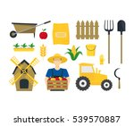 cartoon farming elements and... | Shutterstock .eps vector #539570887