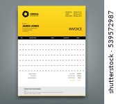 customizable invoice template... | Shutterstock .eps vector #539572987