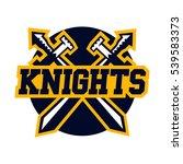 logo knights. swords cross.... | Shutterstock .eps vector #539583373