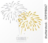 firework background  can be use ... | Shutterstock .eps vector #539598067