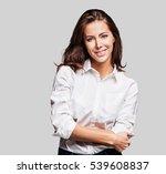 beautiful young woman portrait | Shutterstock . vector #539608837