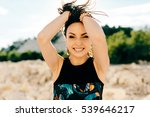 young woman posing near the... | Shutterstock . vector #539646217