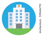 hospital building  medical icon.... | Shutterstock .eps vector #539646793